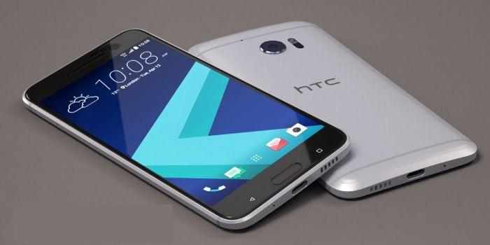 HTC 10 Silber Vorder- und Rückseite